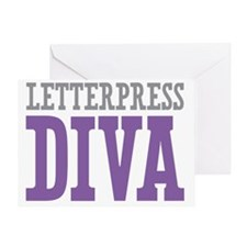 Letterpress DIVA Greeting Card