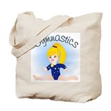 Gymnast Girl Blonde Tote Bag