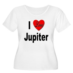 I Love Jupiter (Front) Women's Plus Size Scoop Nec