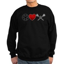 Peace Love Play Lacrosse Sweatshirt