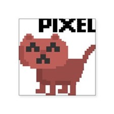 "Pixel Cat Square Sticker 3"" x 3"""