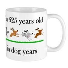 75 dog years birthday 1 Mug