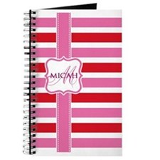 Girly Stripe Monogram Journal