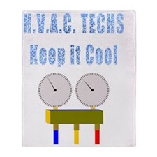 H.V.A.C. techs keep it cool Throw Blanket