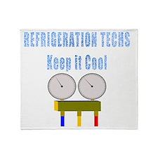 Refrigeration techs keep it cool Throw Blanket