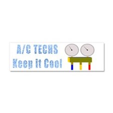 A/C techs keep it cool Car Magnet 10 x 3