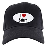 I Love Saturn Black Cap