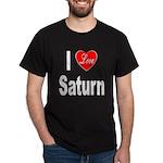 I Love Saturn (Front) Dark T-Shirt