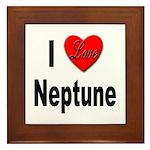 I Love Neptune Framed Tile