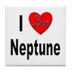 I Love Neptune Tile Coaster