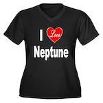 I Love Neptune (Front) Women's Plus Size V-Neck Da