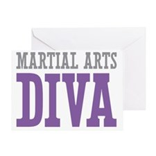 Martial Arts DIVA Greeting Card