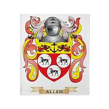 Allen Coat of Arms Throw Blanket