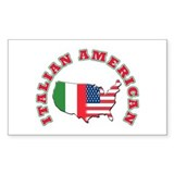 Italian american Rectangle Decal