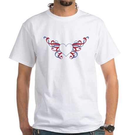 Tribal Heart White T-Shirt