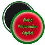"World Watermelon Capital 2.25"" Magnet (10 pack)"