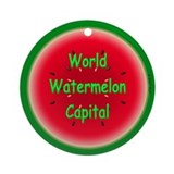 World Watermelon Capital Ornament (Round)