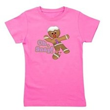 funny cute oh snap gingerbread man Girl's Tee