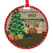 2013 Dachshund 1St Christmas Ornament