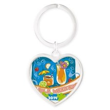Girls Weekend 2014 Heart Keychain