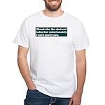 Let Down White T-Shirt