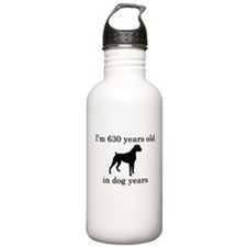 90 birthday dog years boxer Water Bottle