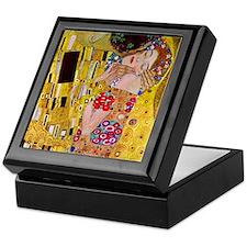 The Kiss detail, Gustav Klimt, Vintag Keepsake Box