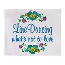 Line Dancing to Love Throw Blanket