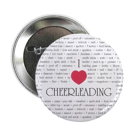 "I Love Cheerleading 2.25"" Button (10 pack)"