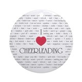 I Love Cheerleading Ornament (Round)