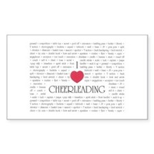 I Love Cheerleading Rectangle Decal
