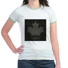 Grunge Canadian maple leaf on b T
