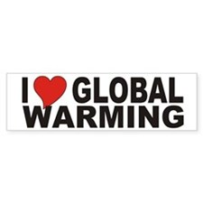 I Love Global Warming Bumper Bumper Sticker