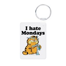 I Hate Mondays Aluminum Photo Keychain