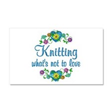 Knitting to Love Car Magnet 20 x 12