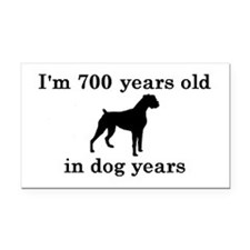 100 birthday dog years boxer 2 Rectangle Car Magne