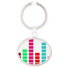 Cool Music Shirt Oval Keychain