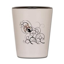 Cat and Bird all over tee Shot Glass