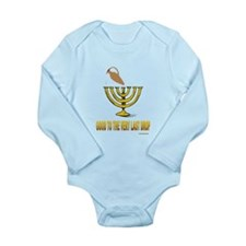Last Drop Oil Menorah Hanukkah Body Suit