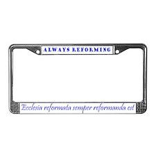 Reformed License Plate Frame