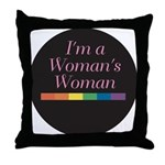WOMAN'S WOMAN Throw Pillow