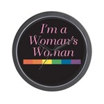 WOMAN'S WOMAN Wall Clock