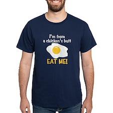 Chicken's Butt Men's Navy T-Shirt