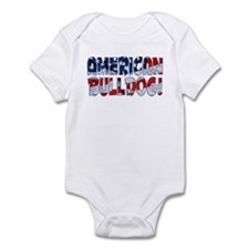 AMERICAN BULLDOG FLAG Infant Bodysuit