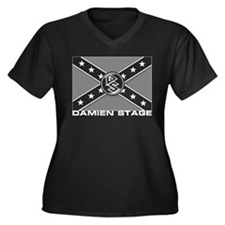 Damien Stage Women's Plus Size V-Neck Dark T-Shirt