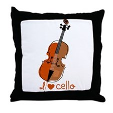 I love cello Throw Pillow