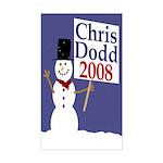 Chris Dodd 2008 Snowman Sticker