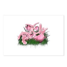LITTLE PINK BUNNIES Postcards (Package of 8)