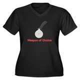 Weapon of Choice Women's Plus Size V-Neck Dark T-S