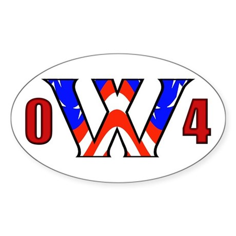 W '04 Oval Sticker